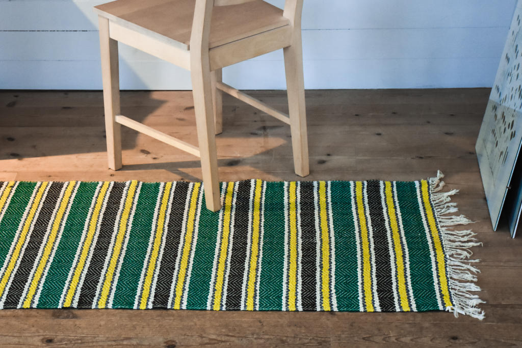 Swedish vintage rag rug 0639 - Rugs of Sweden