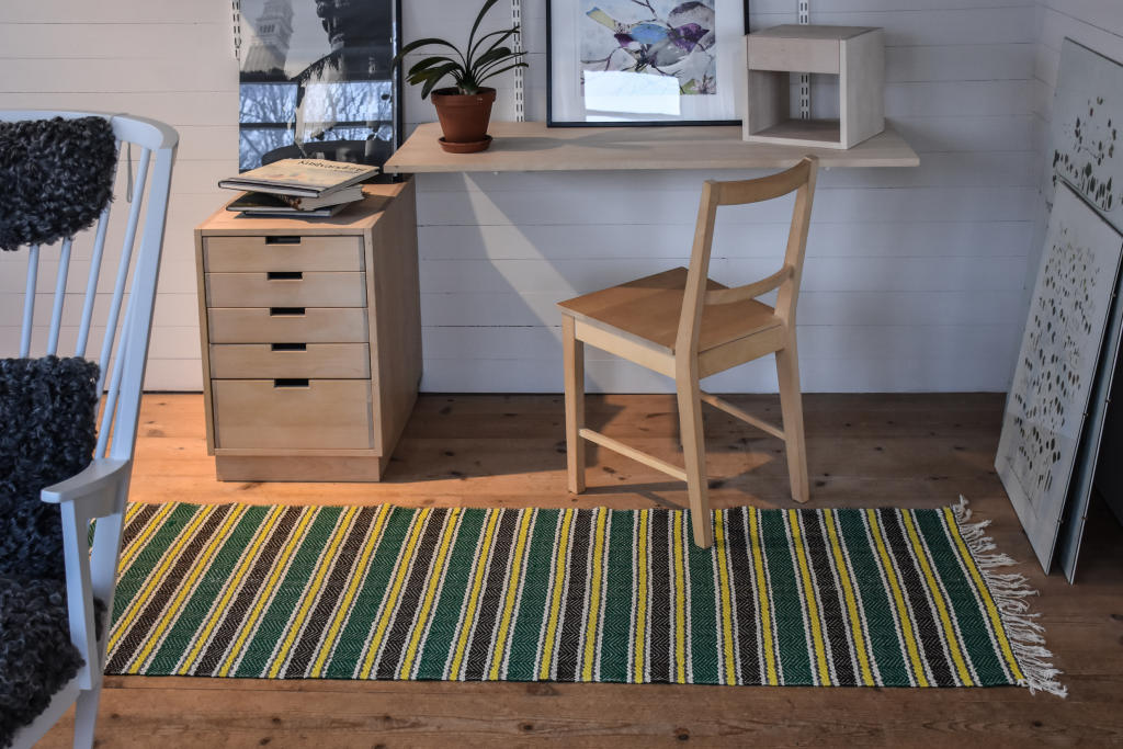 Swedish vintage rag rug 0640 - Rugs of Sweden