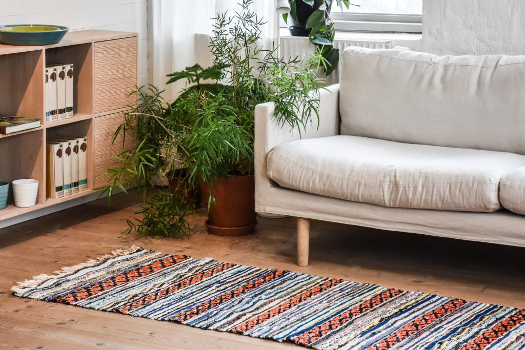 Swedish vintage rag rug 0758 - Rugs of Sweden