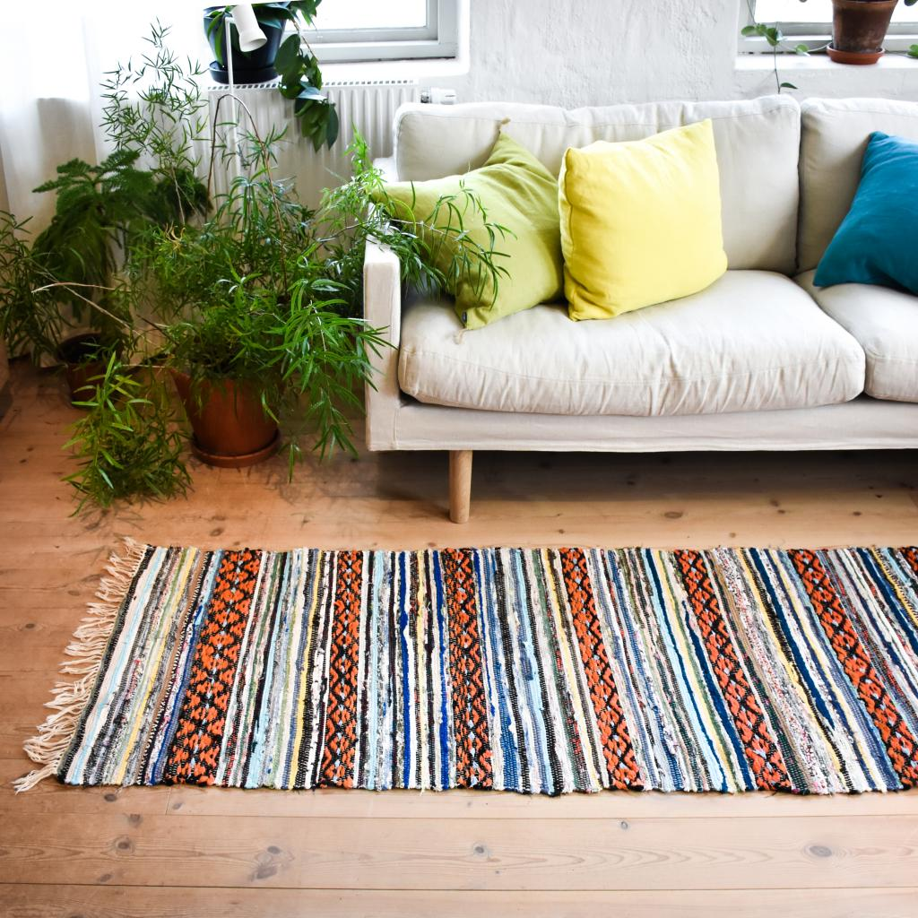Swedish vintage rag rug 0762 - Rugs of Sweden