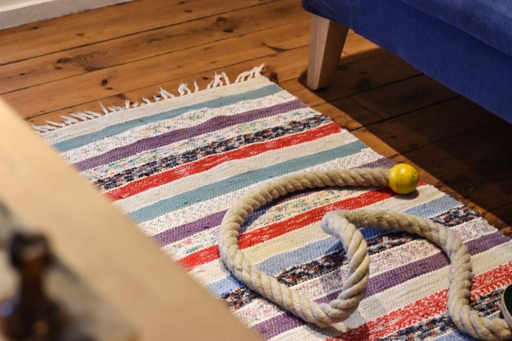 Swedish vintage rag rug 0871 - Rugs of Sweden