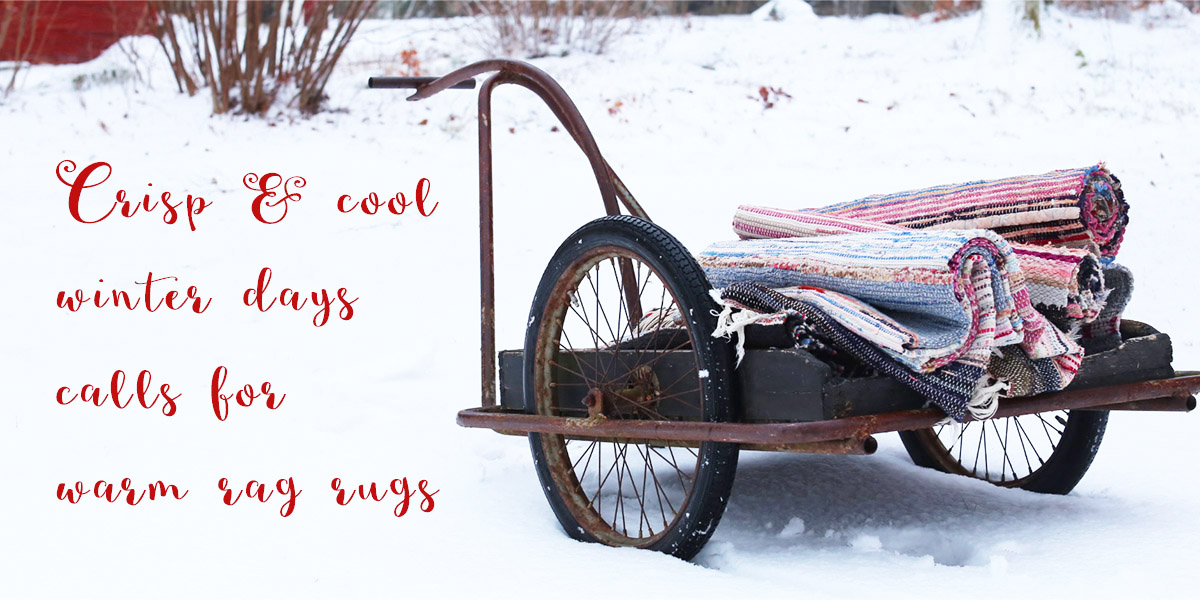 Vintage rag rugs scandinavia sweden