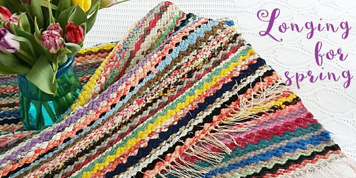 Rag rug vintage retro handmade